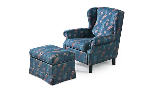 Bristol stol pall blå